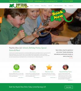 Reptiles Alive - New Website - Local Web Developer - New Website Launch
