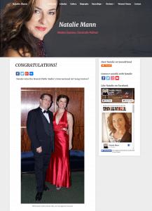 Opera Singer Web Design - Web Designer for Professional Singer - Surf Your Name Web Designer