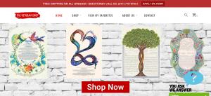 Buy Ketubahs Online - The Ketubah Shop - Web Design - Logo Design - Ecommerce Store - Surf Your Name Web Design