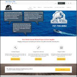 Metal Works Landing Page Design