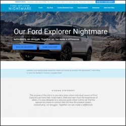 Custom WordPress Design For Ford Explorer Nightmare