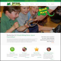 Reptiles Alive Custom WordPress Website Development