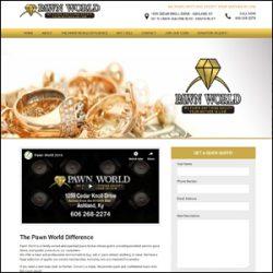 Pawn World Website Design