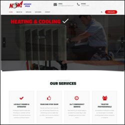 Heating and Cooling Company Website Design