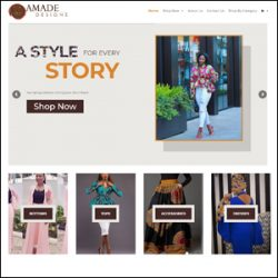 Amade Designs Fashion eCommerce Website