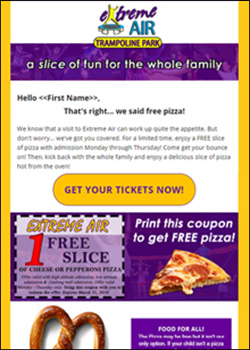 EA - Pizza promo email