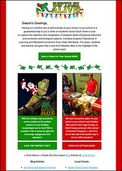 RA Christmas Email