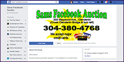 Sams Facebook Auction