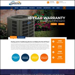 Website Redesign - Web Development - Comfortmate HVAC - Local Web Design Firm - HVAC Web Designer