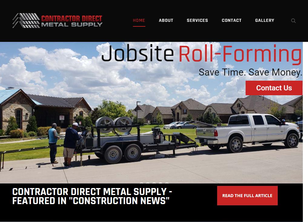 Direct Metal Supply Website - New Website Launch - Web Development - Website Design
