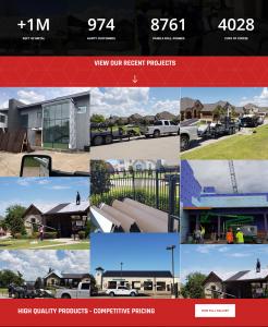 Direct Metal Supply Website - Web Developer - Website Designer - Website Image Gallery