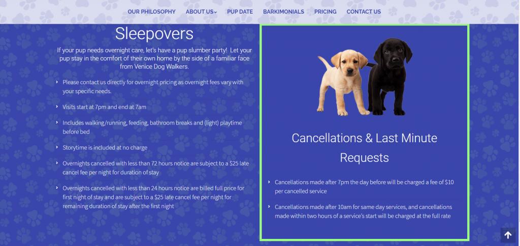 Venice Dog Walkers - Norfolk Web Design - Norfolk Digital Marketing