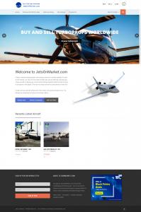 Jets on Market - Aircraft Listing Website - Norfolk Web Design Firm - Norfolk Web Development - Digital Marketing Firm