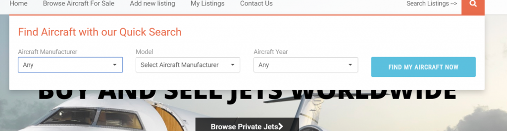 JetsOnMarket - Aircraft Listing - Web Design - Norfolk Web Development - Digital Marketing Firm
