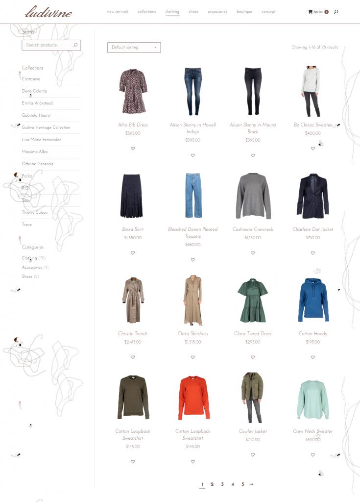Boutique Ludivine - E-Commerce Website Design - Boutique Web Design - Fashion Website - French Boutique Website