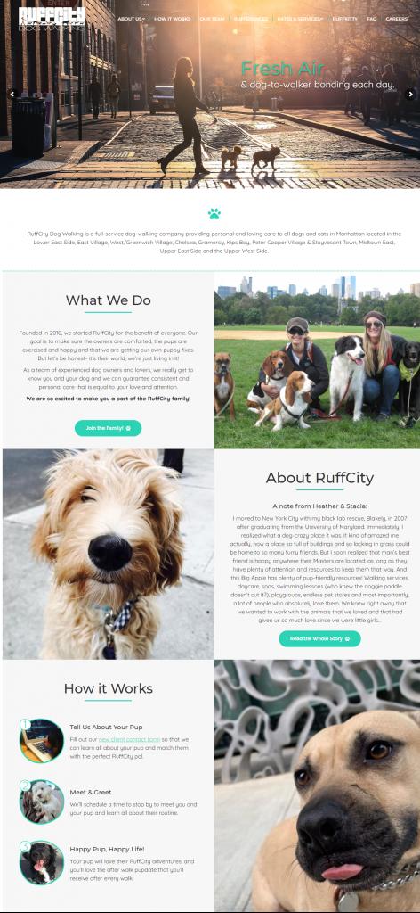 RuffCity Dogwalker - New Website Launch - Dog Business Web Design - Dog Walker Web Developer