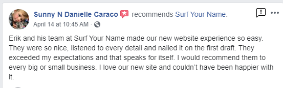 Facebook Review - Web Design - Website Redesign - Norfolk Web Development - Best Web Designer