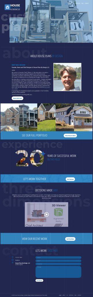Website Redesign - House Plans by Design - Modern Web Design - Web Development - Local Web Designer