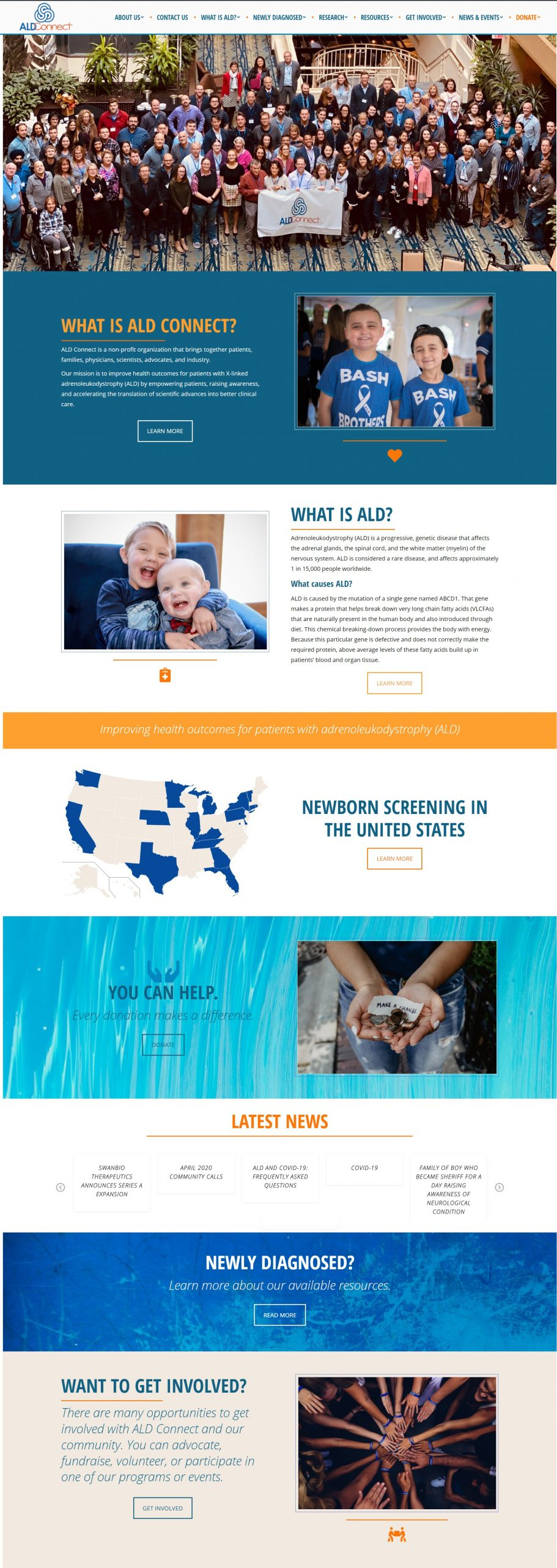 ALD Connect Redesign - Norfolk Web Design - Virginia Web Development - Nonprofit Web Design