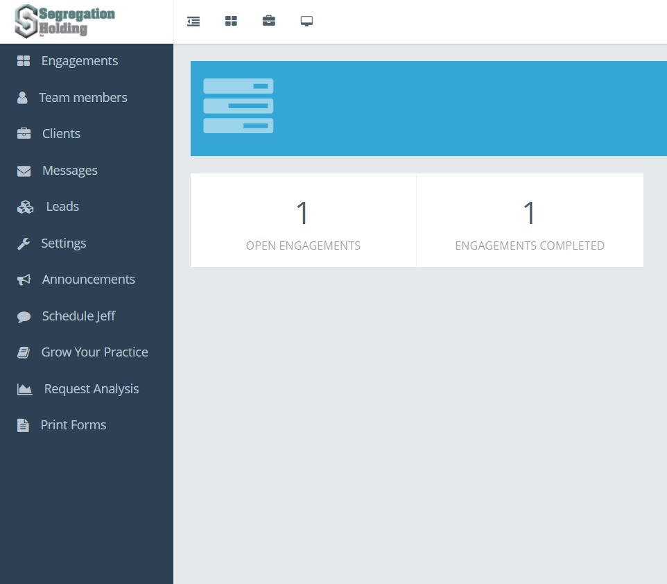 Segregation Holding - Custom Dashboard - Norfolk Web Development - Custom Web Development
