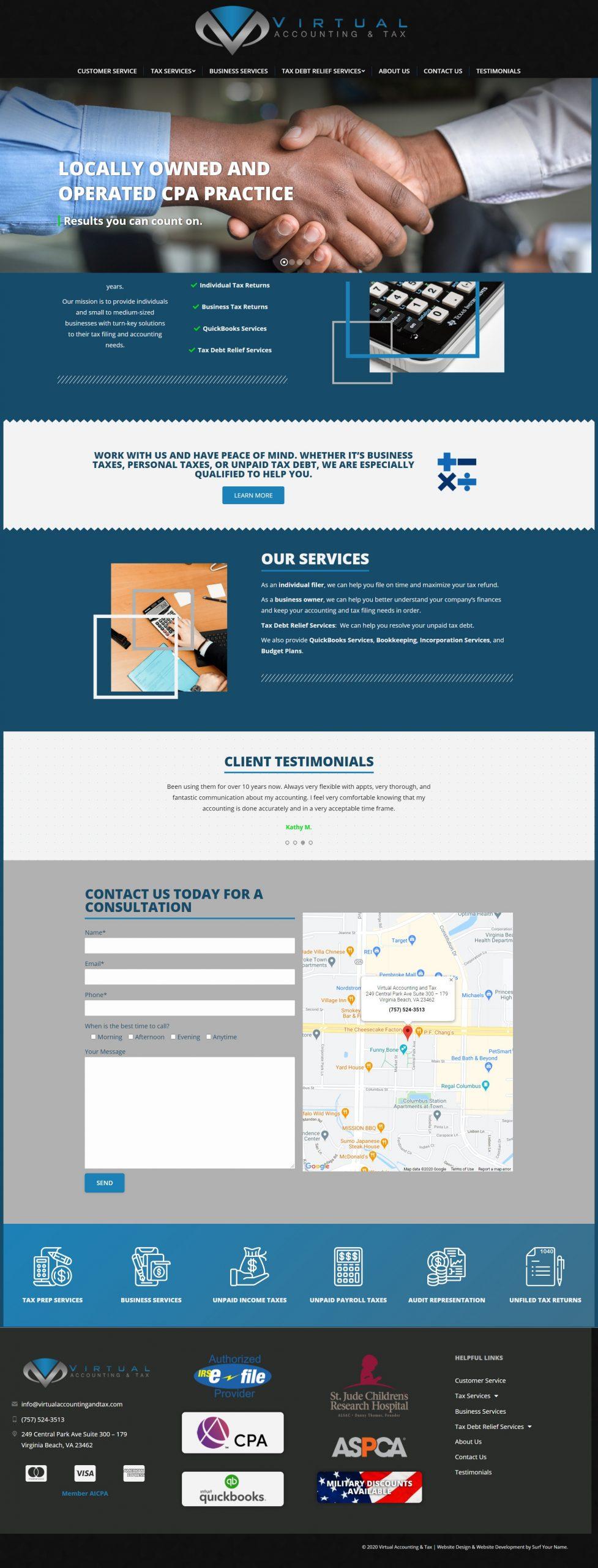 Virtual Accounting and Tax - Norfolk Web Design - Virginia Web Design - Hampton Roads Web Development