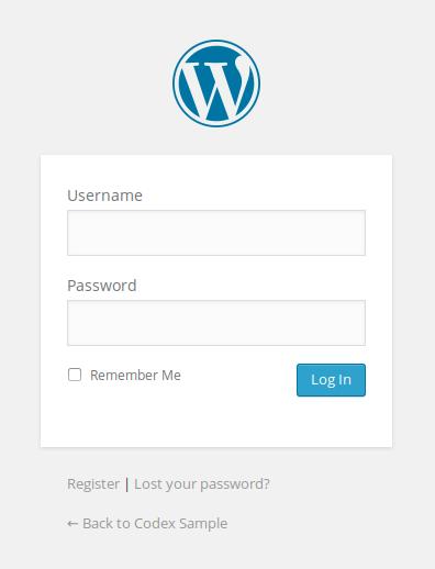 WordPress Login - Custom WordPress - WordPress Security