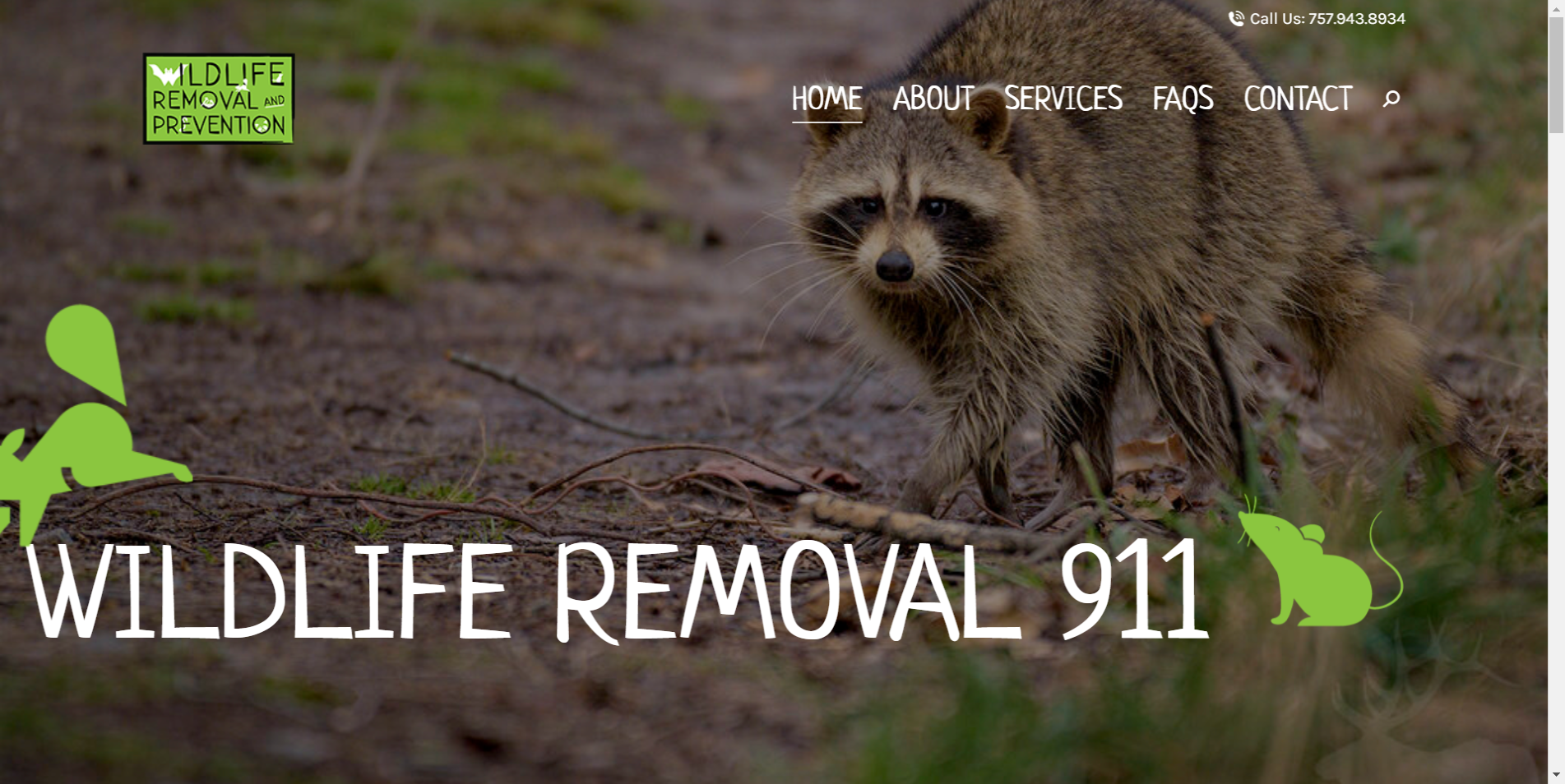 Wildlife Removal 911 - Surf Your Name Website - Animal Removal